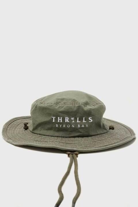 Thrills Palmed Boonie Hat Army Green