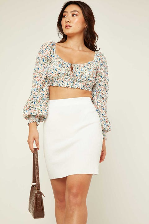 PERFECT STRANGER Made for You Mini Skirt White