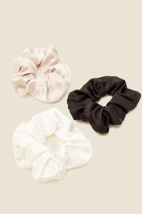 Token Scrunchie 3 Pack Black/White/Nude