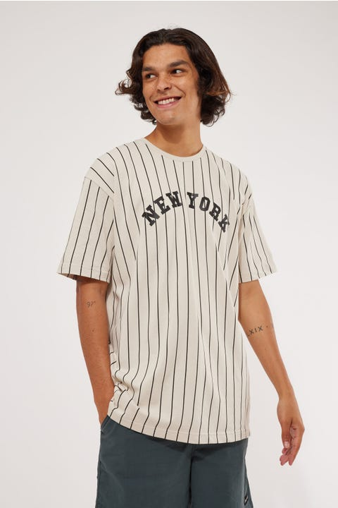 New Era Oversized Tee Stone
