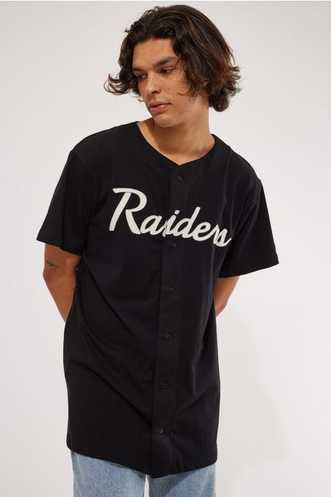New Era Button Up Woodmark Tee Black