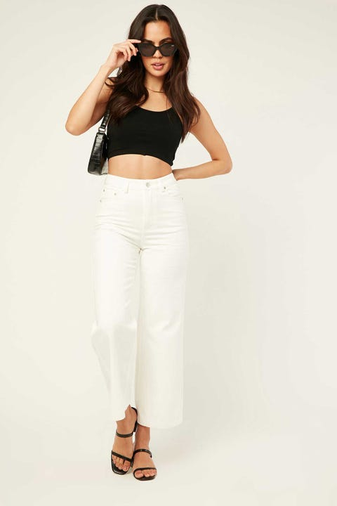 LUCK & TROUBLE Decisions Pant White