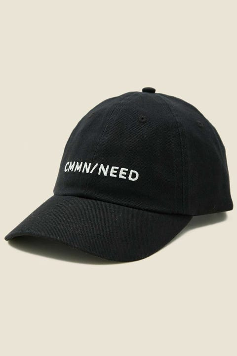 COMMON NEED Percy Cap Washed Black