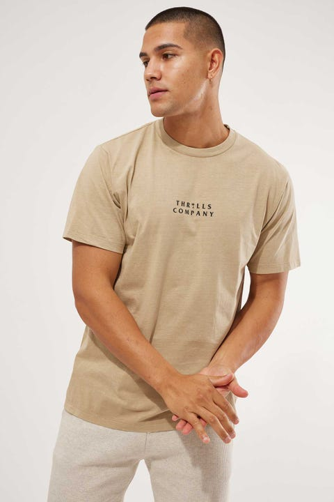 Thrills Palmed Thrills Company Merch Fit Tee Washed Tan