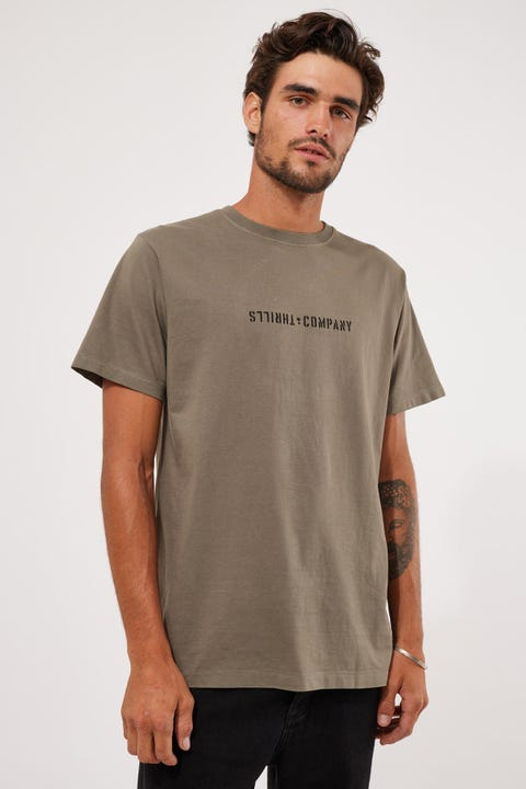 Thrills Formation Merch Fit Tee Army Green