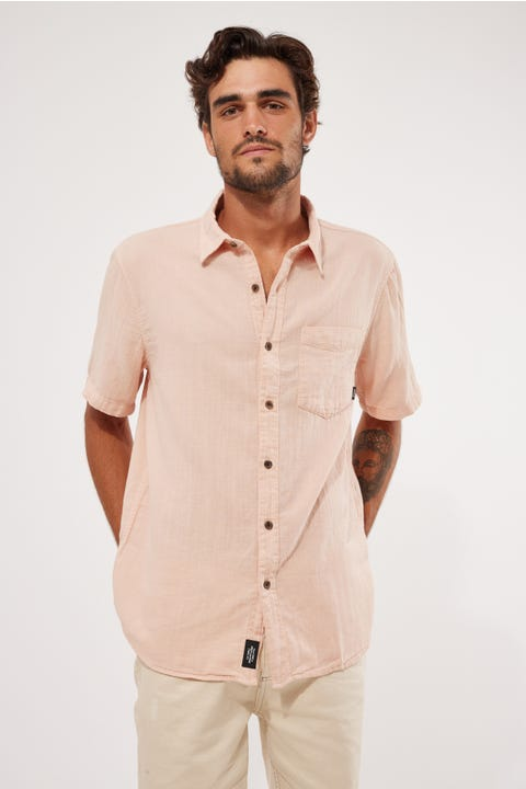 Thrills Dril Short Sleeve Shirt Cork Fade