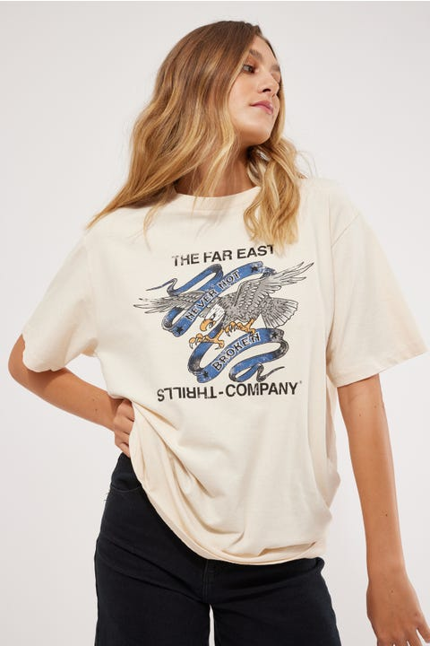 Thrills Sacrifice Merch Tee Heritage White