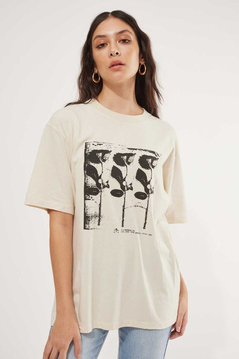 Thrills Three Roses Merch Tee Heritage White
