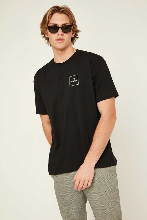 BRIXTON Alpha Block Tee Black