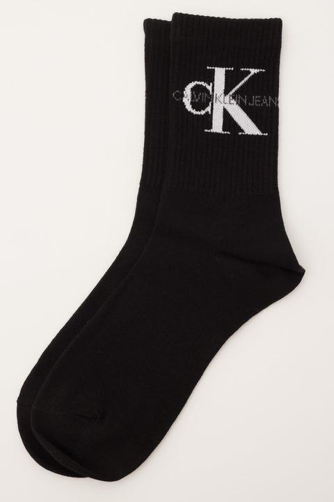 Calvin Klein Monogram Logo Crew Black