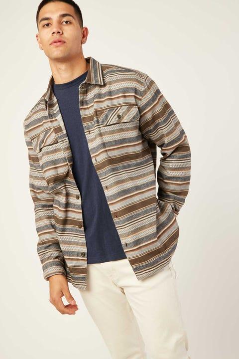 PATAGONIA M's LS Fjord Flannel Shirt Bristle Brown
