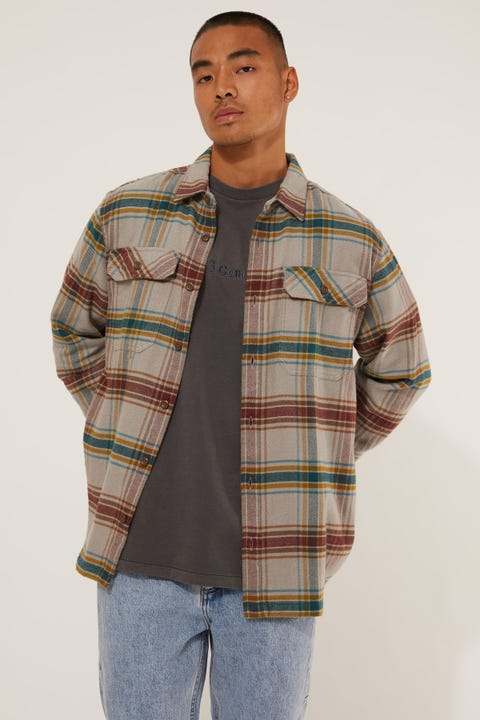 Patagonia M's LS Fjord Flannel Shirt Feather grey