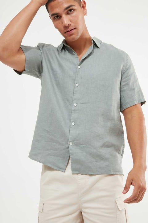 Assembly Casual Short Sleeve Shirt Mineral Green