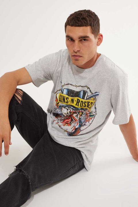 Bravado Guns & Roses Tee Grey Marle