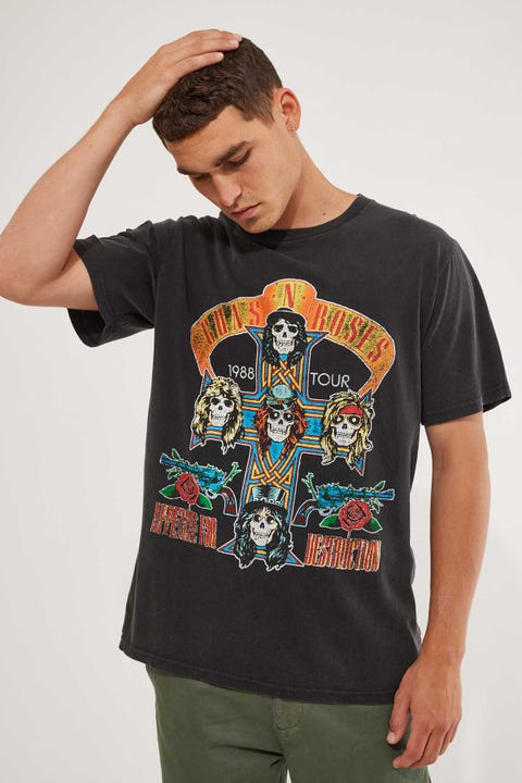 Bravado Guns & Roses Arch Tee Washed Black