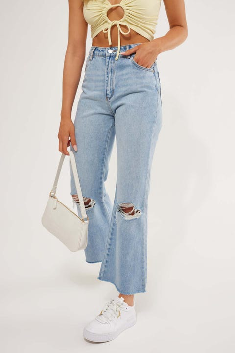 Rolla's Eastcoast Crop Flare Liv Worn