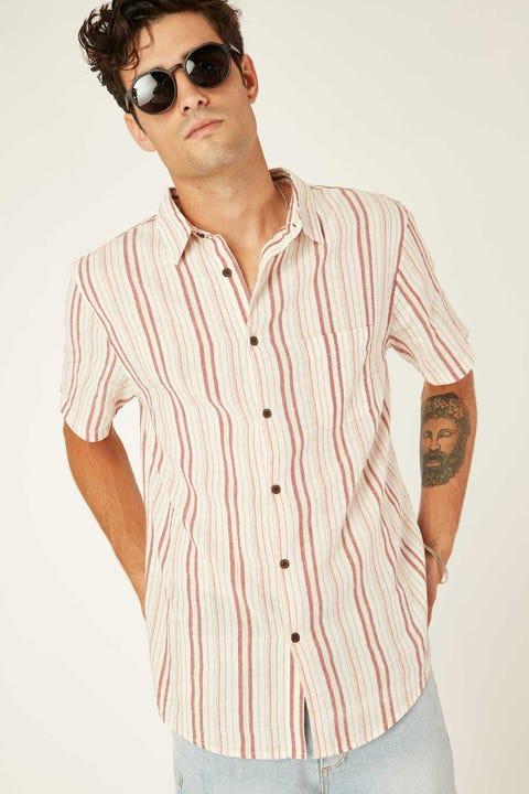 Common Need Fanning Shirt Rust/Bone/Amber Stripe