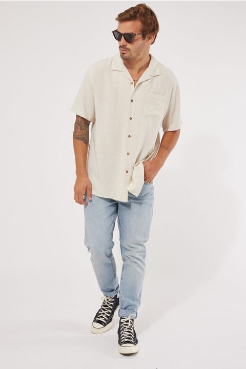 Common Need Truth Resort Collar Shirt Oatmeal
