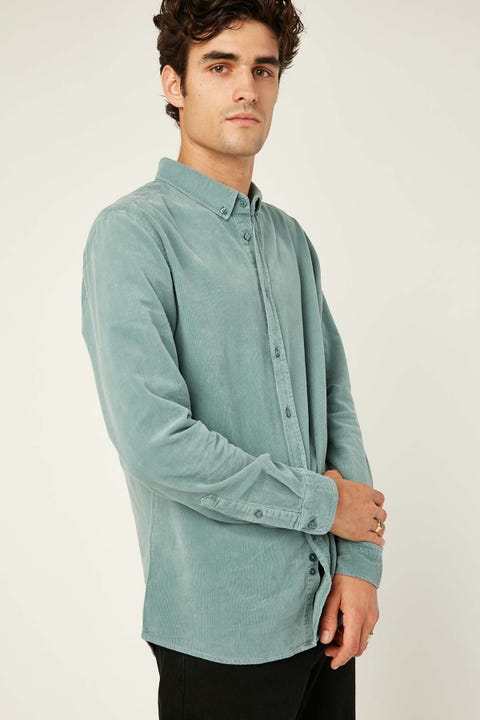 COMMON NEED Garcia Cord Shirt Smoke Blue