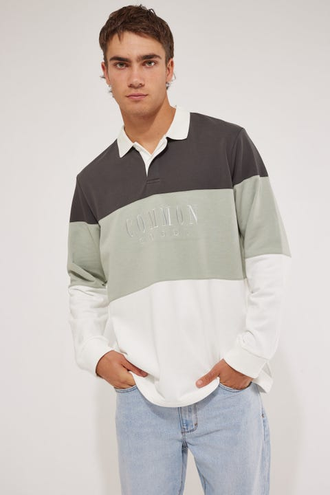 Common Need Warrior Rugby Jumper Green/Bone