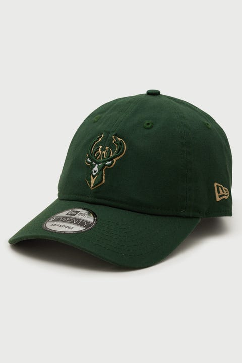 New Era 9Twenty Milwaukee Bucks Mountain Pine Green