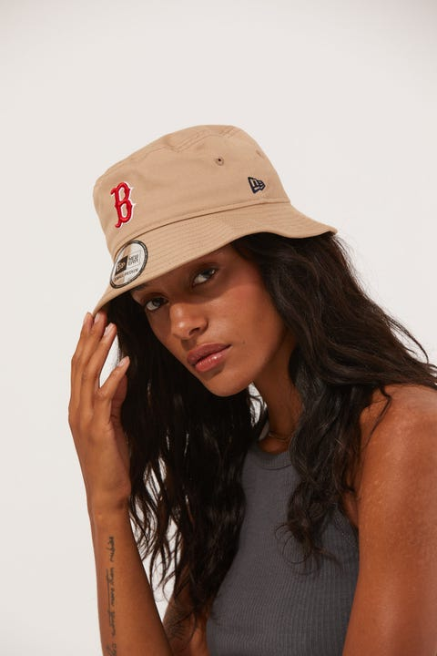 New Era Bucket Boston Red Sox Camel/Red