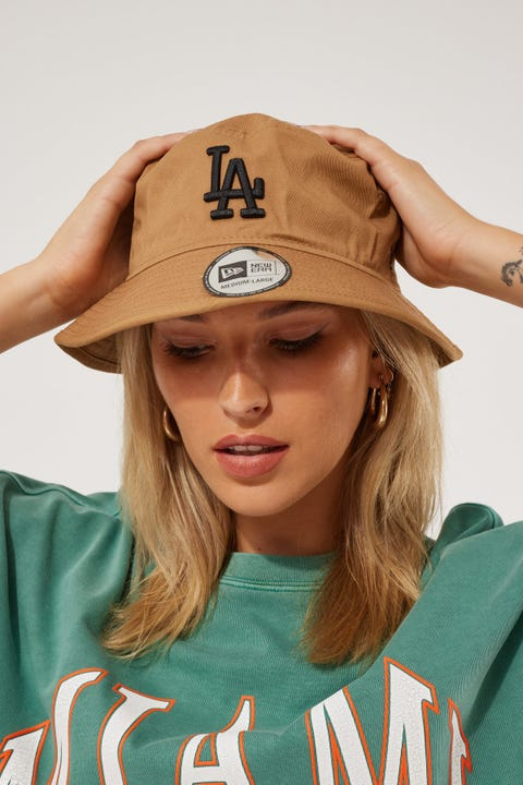New Era Bucket LA Dodgers Wheat/Black
