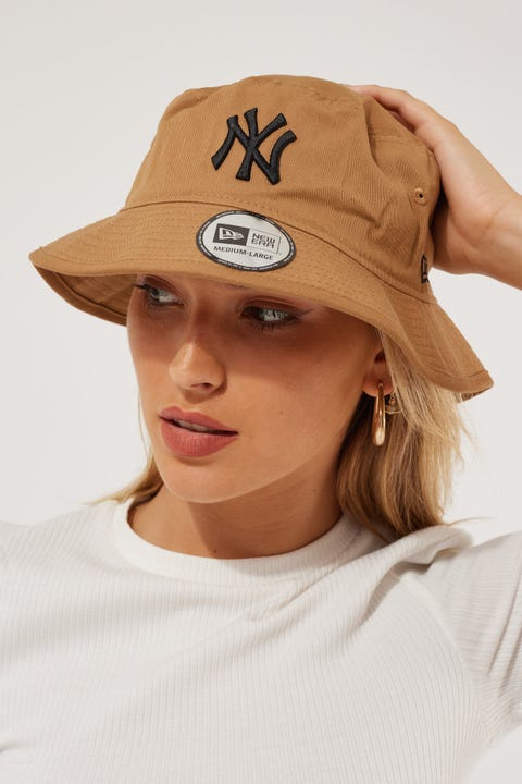 New Era Bucket NY Yankees Wheat/Black
