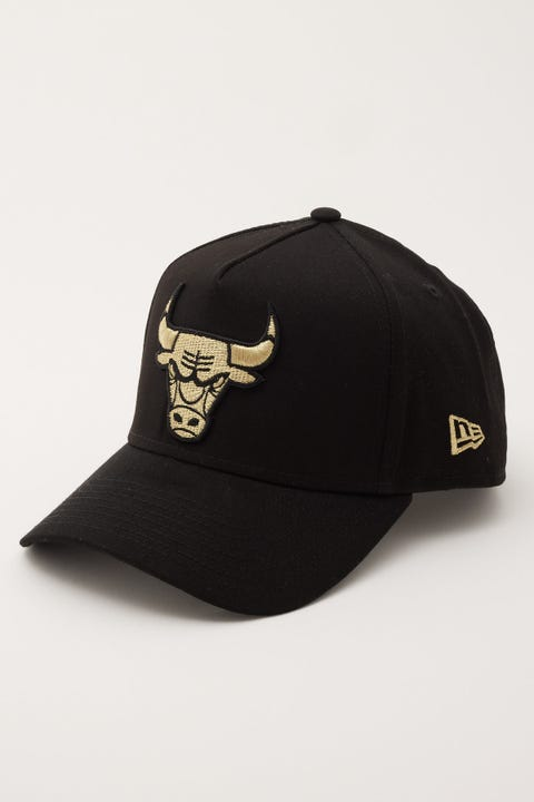 New Era 9Forty A-Frame Chicago Bulls Black/Gold