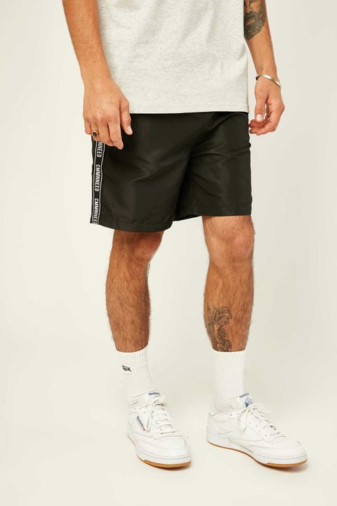COMMON NEED Stream Quickdry Swim Short Black