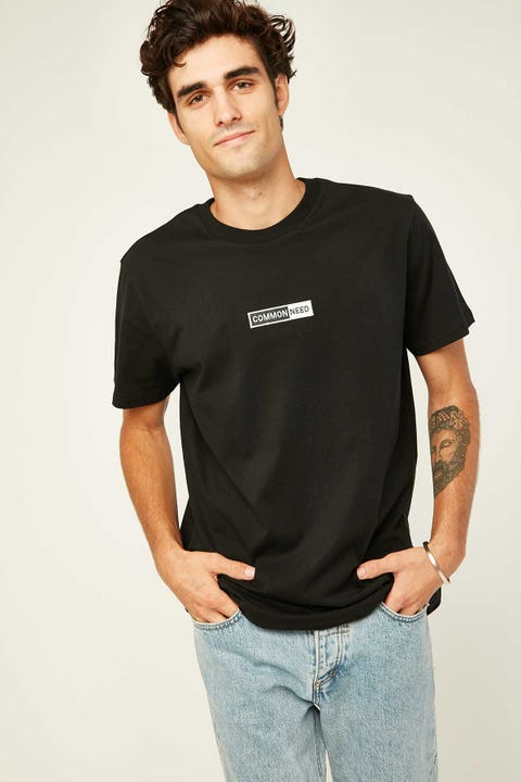 COMMON NEED Easton Tee Black