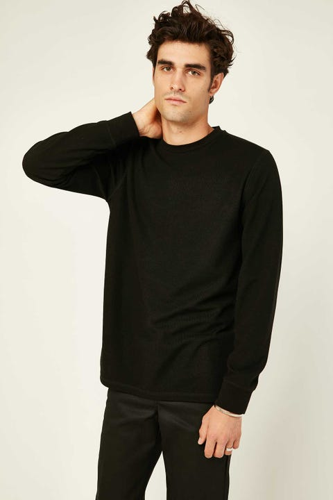 Common Need Sail Knit Longsleeve Tee Black