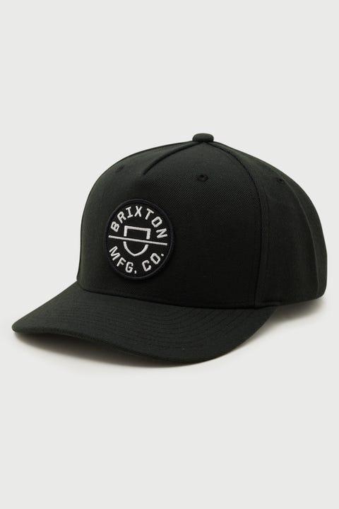 Brixton Crest Snapback Black