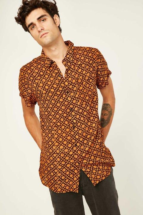 Rolla's Beach Boy Sun Flare SS Shirt Old Gold