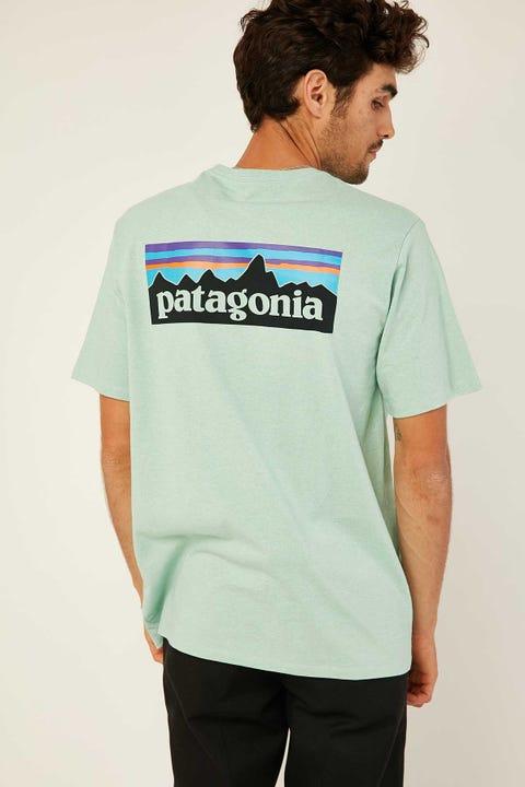 Patagonia M's P6 Logo Responsibilities Tee Gypsum Green