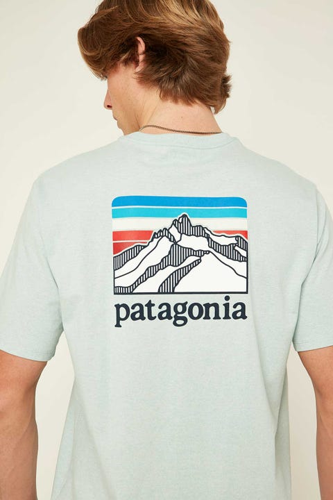 Patagonia M's Line Logo Ridge Pocket Tee Big Sky Blue