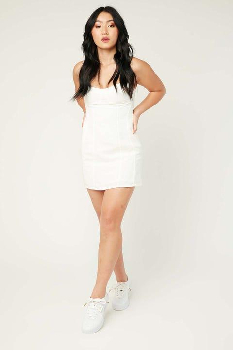 PERFECT STRANGER Moment In Time Dress White