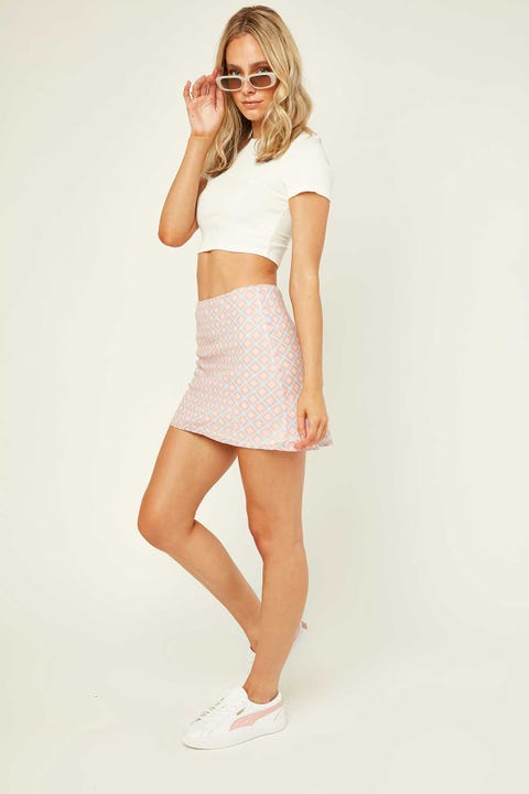 LUCK & TROUBLE London Mini Skirt Pink Check