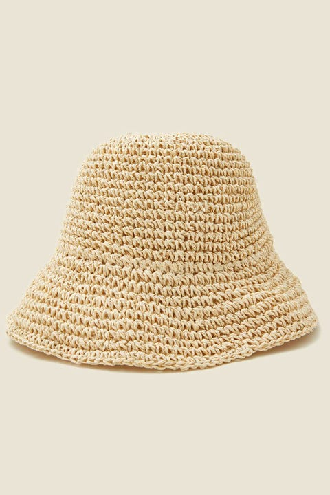 TOKEN Raffia Bucket Hat Natural