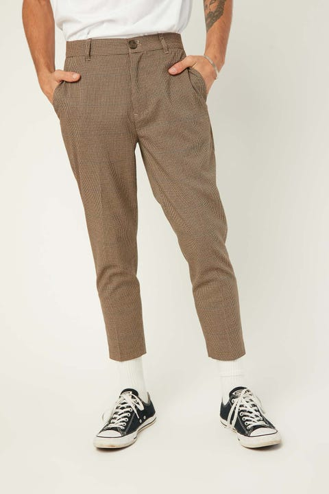 COMMON NEED Richmond Pant Brown/Black Houndstooth