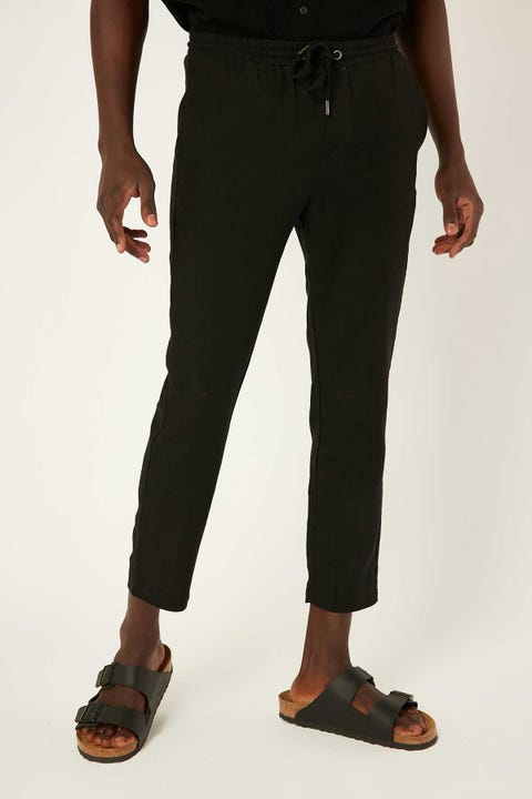 COMMON NEED Shoreditch Linen Pant Black