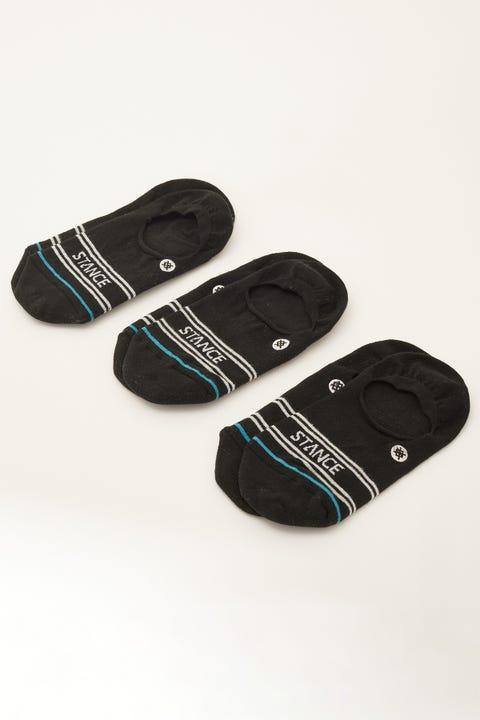 Stance Basic No Show Socks 3 Pack Black