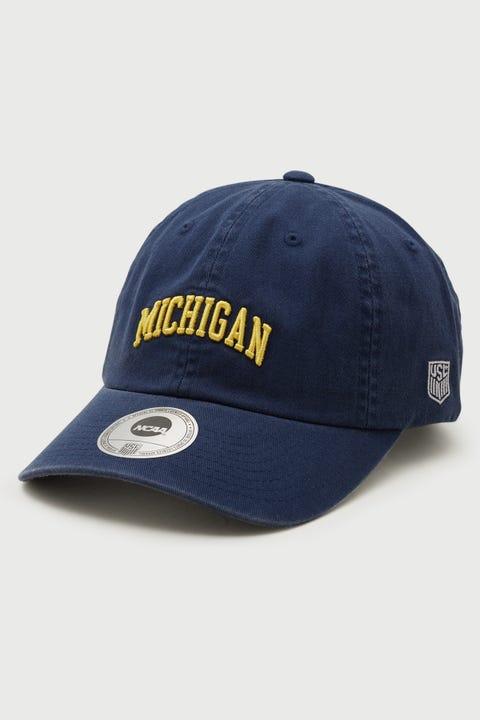 Ncaa Wordmark Michigan Dad Hat Navy