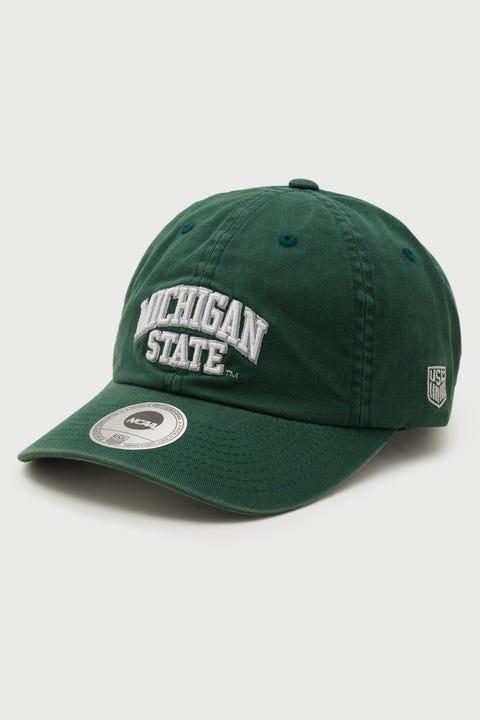 Ncaa Wordmark Michigan State Dad Hat Green
