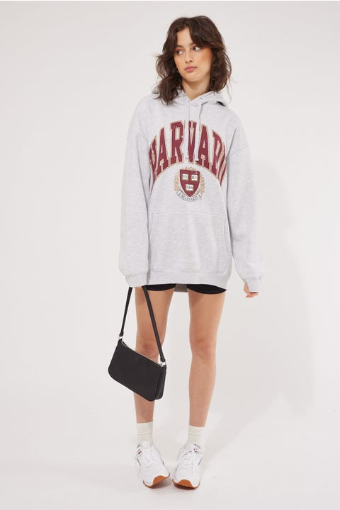 Ncaa Vintage High Arch Hoody White Marle