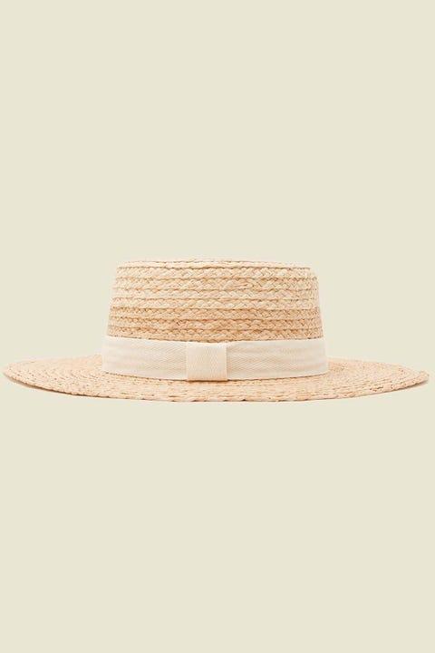 TOKEN Boater Hat Straw