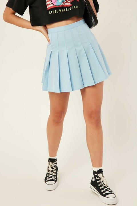 LUCK & TROUBLE Schools Out Mini Skirt Blue