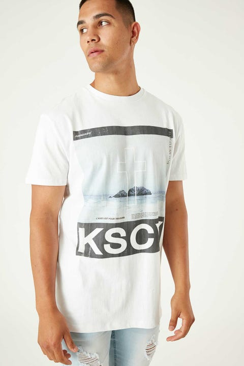 KISS CHACEY Horizon Tee White