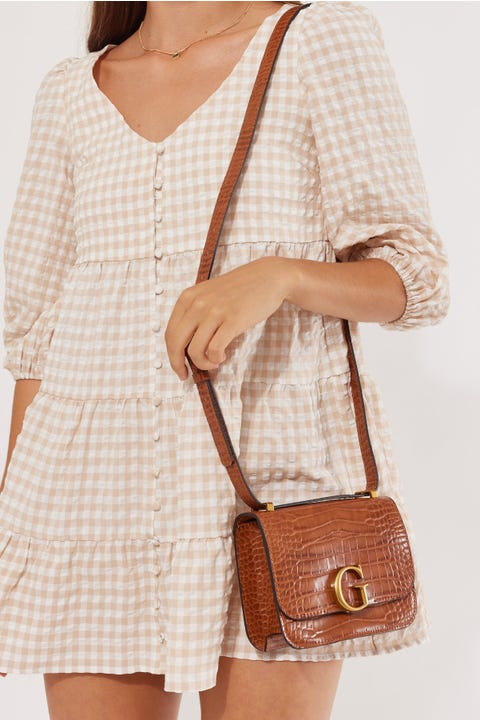 Guess Originals Corily Crossbody Cognac