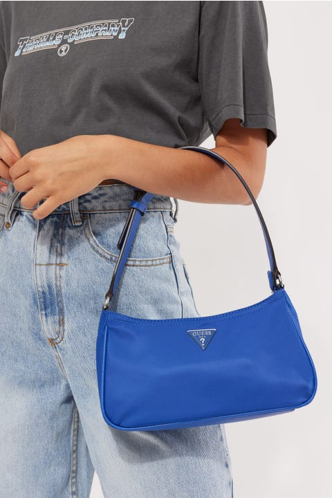Guess Originals Little Bay Shoulder Bag Blue